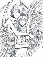 APH - Britannia Angel and England Devil by Neete6Oni