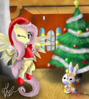 Merry Christmas Fluttershy by Bronyontheway