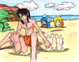 At the Beach by Gear-of-Ren