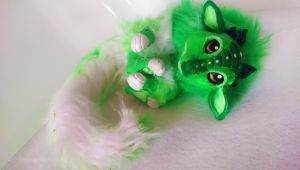 Handmade poseable Lime dragon SOLD by KaypeaCreations
