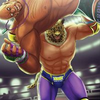 Tekken: King tosses Marduk by rubendevela