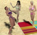 Beach Conflict 6 by cattle6