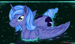 Luna's Lunar Bath in MS Paint by mlpdarksparx