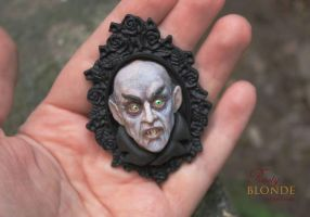OOAK Polymer Clay 'Count Orlok' Pendant by imge