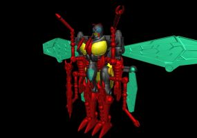 Waspinator TM Finished Robot by WishmasterInRlyeh