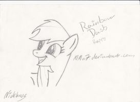 Happy rainbow dash sketch by MMu7