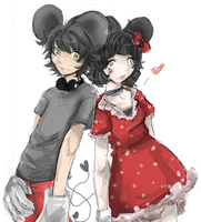 Mickey and Minnie Mouse by Teava