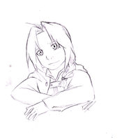 Edward Elric Sketch by BlushingHime