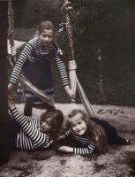 Grand Duchesses playing with a swing by Linnea-Rose