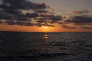 Sunset on the Bering Sea by Hrimgrimnir