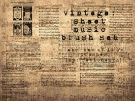 vintage sheet music brushes by rationalrn
