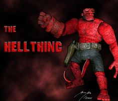 The Hellthing - Hellboy+Thing by BoredRobot