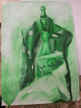 Green_painting by Filipskh