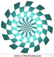 Abstract Optical Illusion Vector Free by 123freevectors