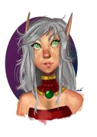 Doodle Blood elf by FrostedOreo