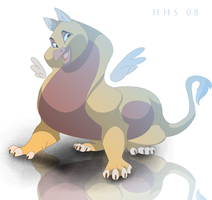 fat little griffin by VixieArts