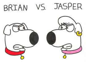 Brian vs. Jasper by BrianGriffinFan
