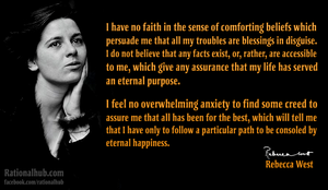 Rebecca West on faith.. by rationalhub