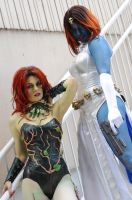Poison Ivy and Mystique: 3 by popecerebus