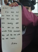 Mai's Note From Zuko.... by staccato
