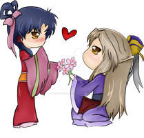 Comission: Ryuuki and Shuurei by MichelleKoilover
