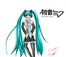 Hatsune Miku by Spider-Bagel
