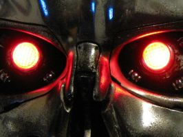 Terminator's red eyes by jkno4u