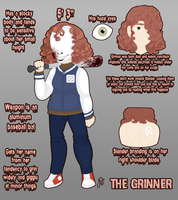 SLENDERVERSE OC REF: The Grinner by InvaderIka