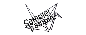 Paper crane PNG x Sample by ChikoTalentless