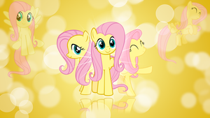 Fluttershy 'Bubbles!' Wallpaper by BlueDragonHans