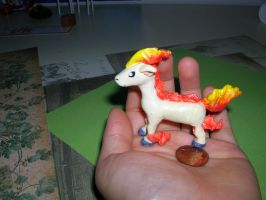 Polymer Clay Ponyta by MagicFlyingBunnies