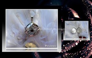 'Secret treasure' sterling silver locket pendant by seralune