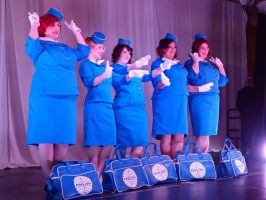 PanAm Stewardress - Where are the Exit ? by CatsLuna
