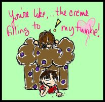 The Creme Filling To My Twinky by tearusapart