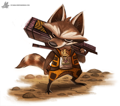 Day 846# Rocket Racoon by Cryptid-Creations