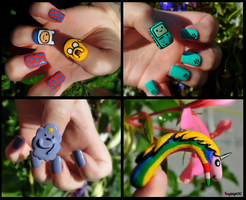 Adventure Time Nail Art Collection by KayleighOC