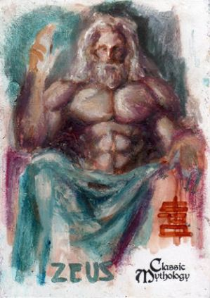 Zeus Sketch Card - BARD!