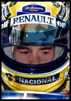 COMMISSION - Ayrton Senna by commando-kev