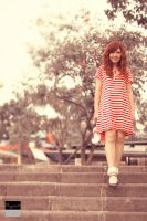 Red And White Stripes II by RacoonFactory