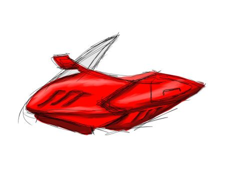 Sketch This: Futuristic Motocycle by Diathima