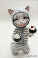 Katze and sweets by scargeear