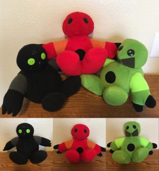 Toa Team -  Bionicle plushies pt. 1 by Kayru-Kitsune