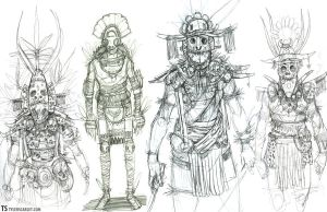 Tribal Warriors by TylerScarlet