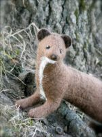 Needle Felted Female Posable Mink by CVDart1990