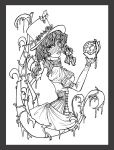 Steampunk Alice (outline) by LadyAstrogah