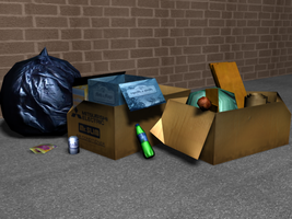 Trash Model by Glaiceana