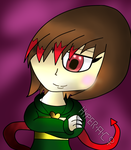 A smile of hope-Chara by HyperactiveChaosgirl