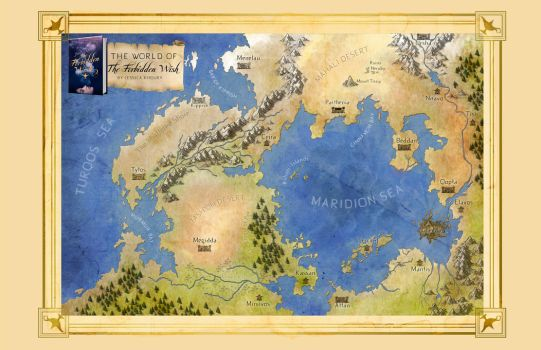 THE FORBIDDEN WISH Official Map of Zahra's World by authorjess