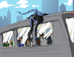 Oougel Takes The Train by plangkye