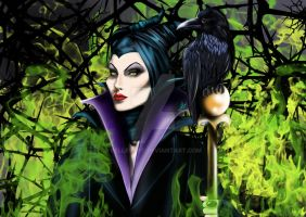 Beauty in the thorns. Disney's Maleficent by BellesArt